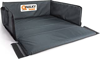 dobar 62300 Walky Bond   Vielseitige Kofferraum Schondecke, Faltbare Hunde Schutzdecke mit Tragetasche, 100 x 80 x 30 cm, XXL, grau/blaugrau