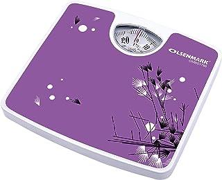 Olsenmark Mechanical Personal Scale - 130kg/286lb Capacity - Adjustable Knob - Large Display - Elegant Design - Optimal Re...