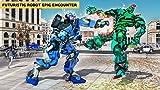 Robot américain police vélo cheval robot transformation