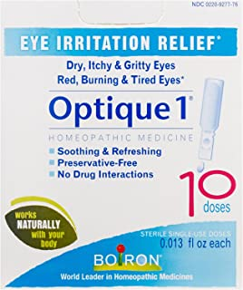 Boiron Optique 1 Eye Drops, 10 Single-use Doses (Pack of 3), Homeopathic Medicine for Eye Irritation