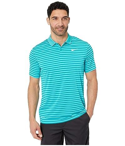 Nike Golf Dri-FITtm Mini-Stripe Victory Polo (Cabana/Spirit Teal/White) Men