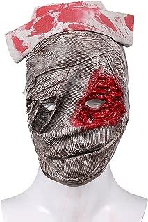 Silent Nurse Mask Light Gray Deluxe Latex Halloween Cosplay Props