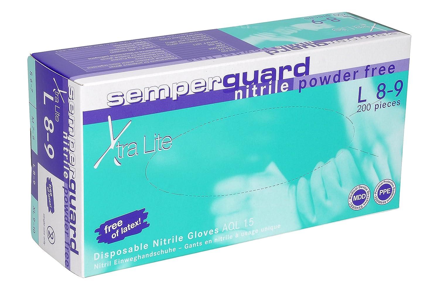 また堀分泌するSemperit 使い捨てニトリル手袋 Xtra Lite 0.14mm 粉無(入数:200枚) 3000001620
