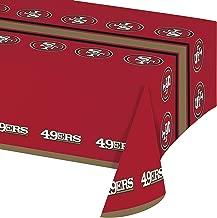 San Francisco 49ers Plastic Tablecloths, 3 ct