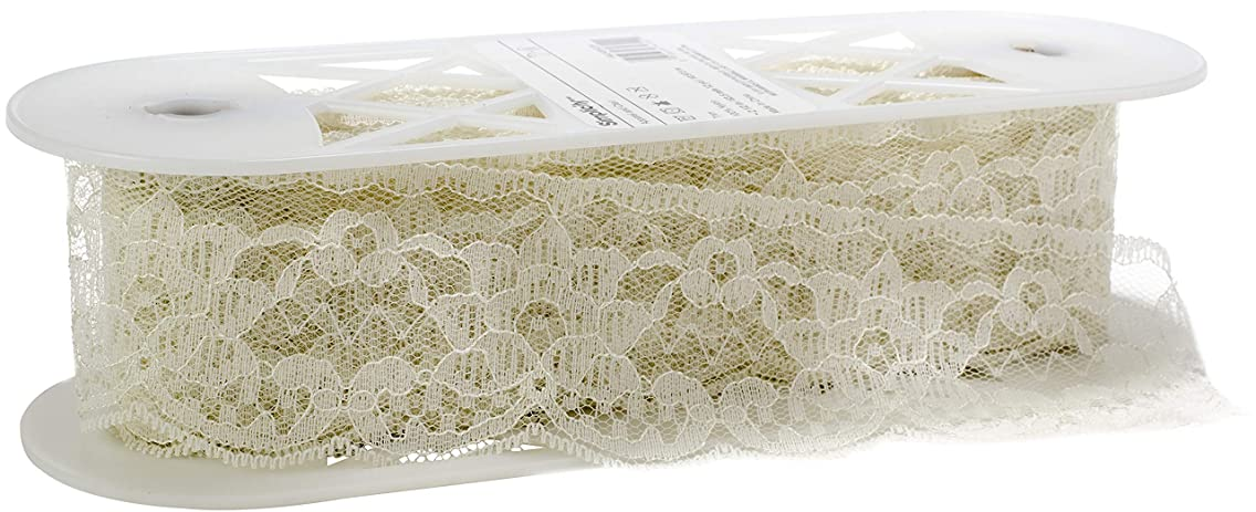 Simplicity 1862485029 Beige Lace Trim Double Daisy Sewing Supplies, 12 Yards Long and 1.5'' W, Multi-Colored