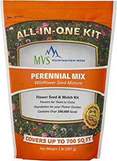 Mountain View Seeds 100573 Perennial Wildflowers, Assorted