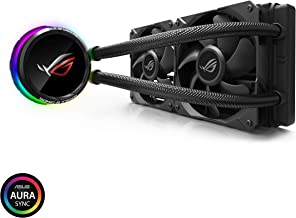"Asus ROG RYUO 240 RGB AIO Liquid CPU Cooler 240mm Radiator Dual 120mm 4-Pin PWM Fan with OLED Panel & Fan Control 1.77"""