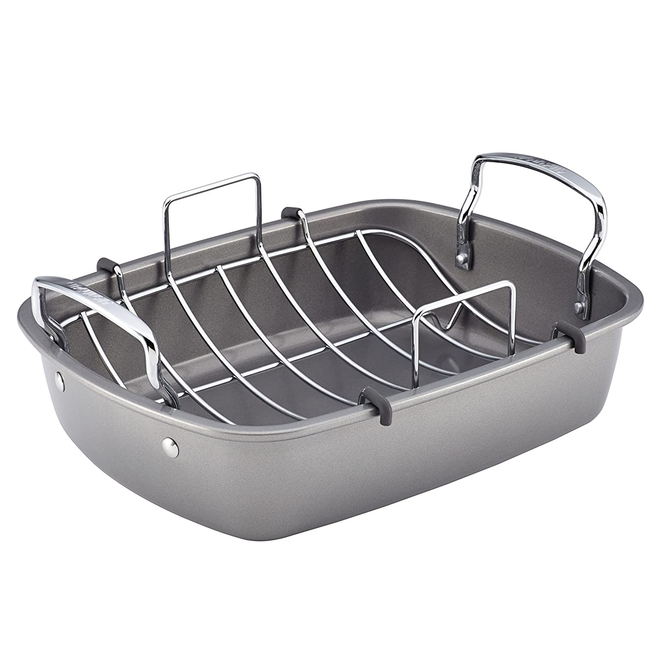 Circulon 56539 Nonstick Bakeware Roaster with U-Rack, 17