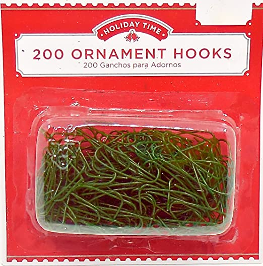 1000 Christmas Tree Decoration Ornament Baubles Hangers Safety Hooks 4cm Green
