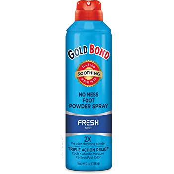 Gold Bond No Mess Foot Powder Spray Fresh 7 Ounce