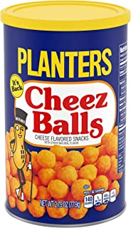 Planters Snack Puffs Cheese Balls (2.75 oz Canisters, Pack of 12)