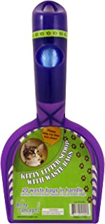 Bright Concepts Kitty Litter Scoop and Rack, With 20 Waste Bags In the Handle