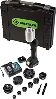 Greenlee LS100X11SB4X Intelli-PUNCH Battery-Hydraulic Knockout Kit with Slug-Buster 1/2