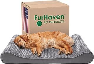Furhaven Pet Dog Bed | Orthopedic Ultra Plush Faux Fur Ergonomic Luxe Lounger Cradle Mattress Contour Pet Bed w/Removable ...