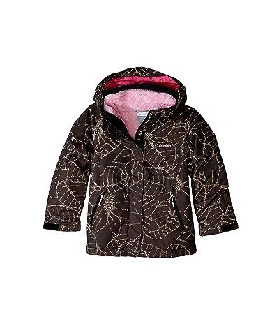 Columbia Kids Bugabootm II Fleece Interchange Jacket (Little Kids/Big Kids) (Black Floral Print/Pink Ice) Girl