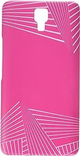 AMZER Slim Designer Snap On Hard Case Back Cover for Infinix Note 4 - Carbon Fibre Redux Hot Pink 3