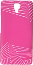 AMZER Slim Designer Snap On Hard Case Back Cover for Infinix Note 4 - Carbon Fibre Redux Hot Pink 3
