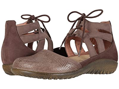 Naot Kata (Brown Lizard Leather/Shiitake Nubuck/Coffee Bean Nubuck) Women