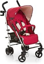 Hauck Tango - Silla de paseo para bebes de 0 meses hasta 15 kg, sistema de arnés de 5 puntos, barra de seguridad, respaldo reclinable, compacta y ligera, plegable, incluido botellero, color rojo