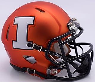 Illinois Fighting Illini Orange Matte Finish Riddell Speed Mini Football Helmet - New in Riddell Box