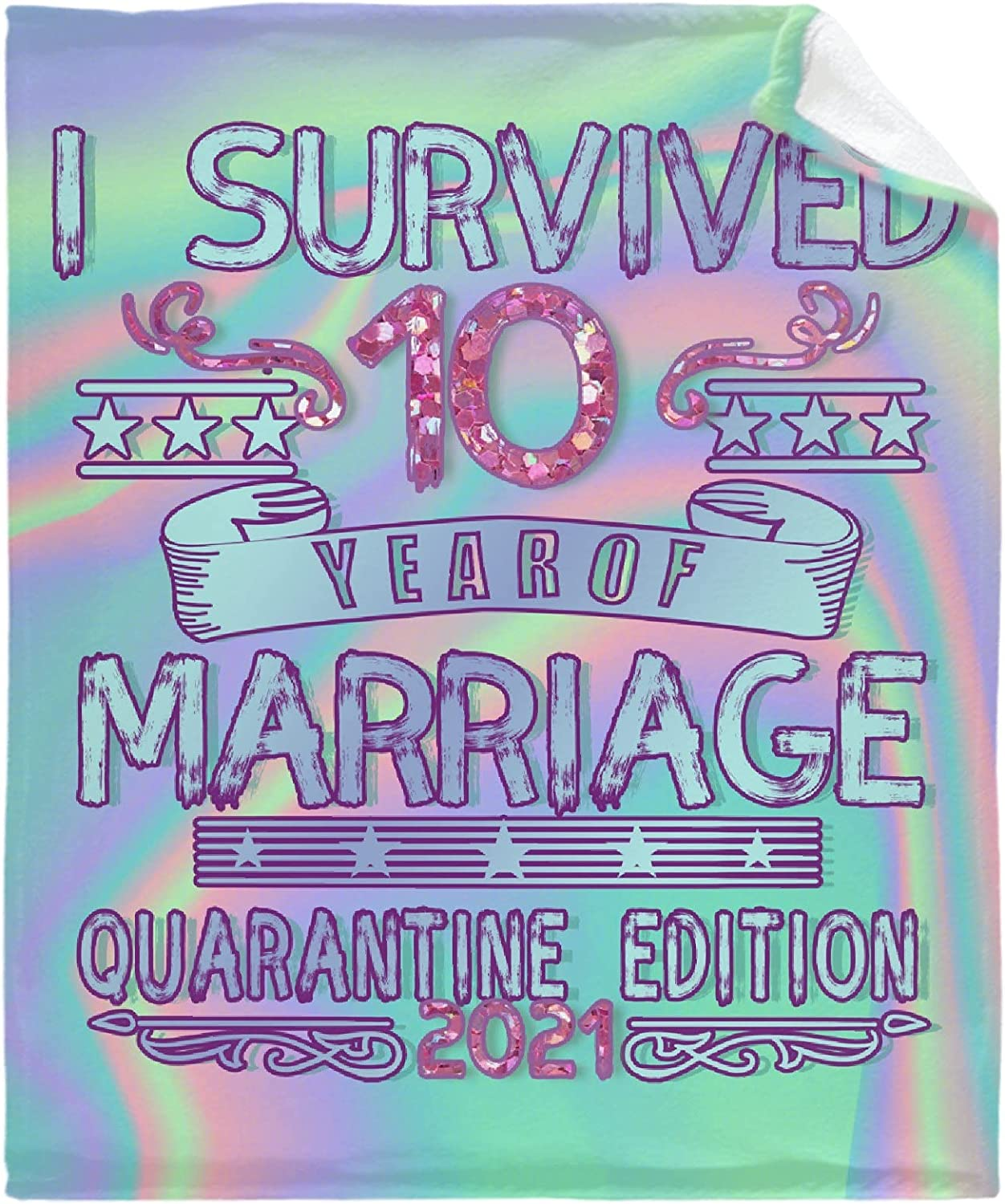 Survived 10 Year Limited time trial price of Free Shipping New Marriage 2021 Flannel Bla Quarantine Edition