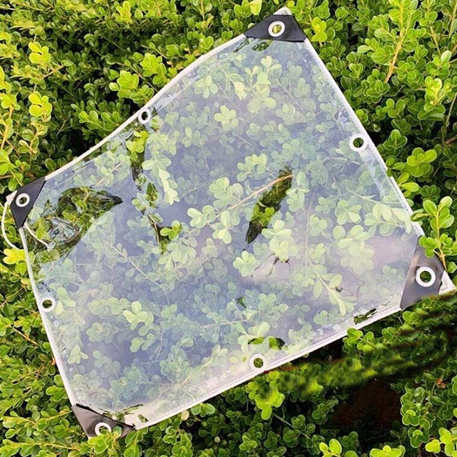YANJINGYJ Max 45% OFF Heavy Duty Tarp Max 66% OFF Waterproof Transparent m² Cover 550g