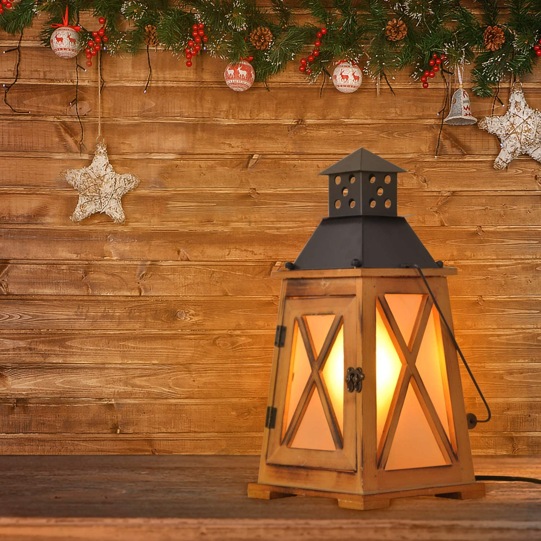 Vintage Wood Lantern Nautical Light Industrial Regular dealer Decorative Retro Max 53% OFF