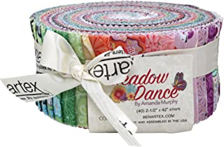 Amanda Murphy Meadow Dance Pinwheel 40 2.5-inch Strips Jelly Roll Benartex