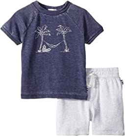 Splendid Littles Burnout Screen Tee Set (Infant)