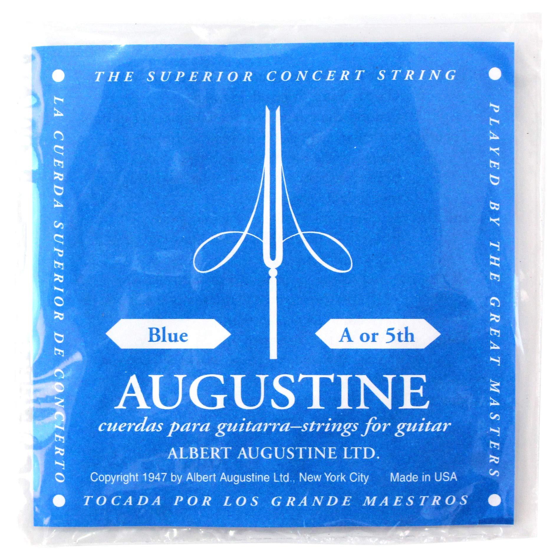 Augustine Cuerdas para Guitarra Clásica, Azul, La5, Tensión Alto ...