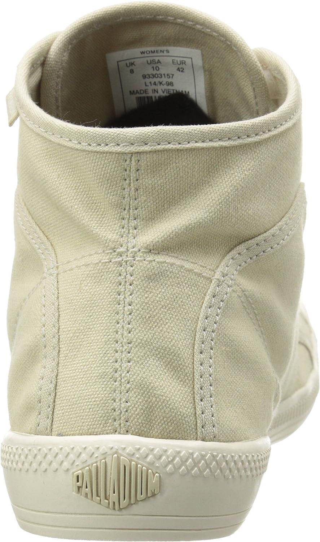 Palladium Flex Lace Mid, Zapatillas Altas para Mujer Beige Beige Ivory Mrshmllw 157
