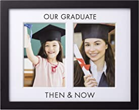 Pearhead Then and Now Graduation Frame, Celebrate Milestones and Capture First and Last Graduation Photos in Graduation Cap and Gown