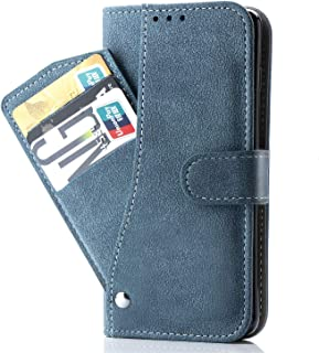 Oneplus 6T Case,Phone Cases Wallet Leather with Credit Card Holder Slim Kickstand Stand Flip Folio Protective Cover for Oneplus 6T 6 T Women Girls Men Blue
