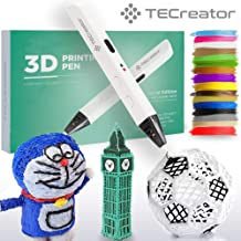 TECreator 3D Pen for Drawing – Slim Design, Heat Control, Extra Filament Refills – Low Temperature - Professional Drawing Tool for Kids and Adults - Colorful Art DIY Tool & Gift, Non-Clogging