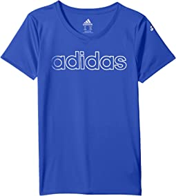 adidas Kids - V-Neck Top (Big Kids)
