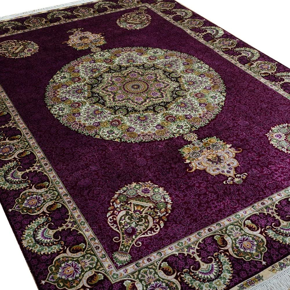 Camel Carpet Purple Living Room Handmade Discount Special Campaign is also underway 5.5'x Rugs Persian Silk