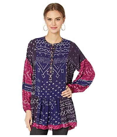 Free People Shibori Tunic (Blue) Women