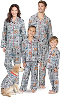 PajamaGram Fun Monopoly Matching Pajamas - Family PJs, Button-Front, Gray