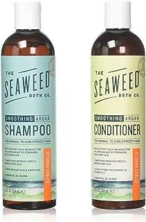 Seaweed Bath Company Smoothing Citrus All Natural Shampoo and Conditioner Bundle With Organic Bladderwrack Seaweed, Aloe Vera, Argan Oil and Vitamin E, 12 fl. oz. each