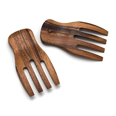 Lipper International Acacia Salad Hands, 3.75  x 7  x 1.88 , One Pair