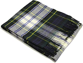 Bronte Throw Blanket - Tartan Throw - Merino Lambswool (Dress Gordon)