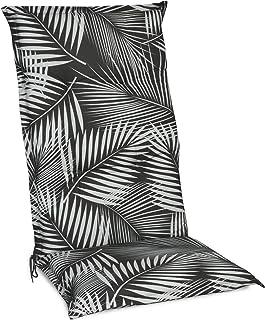 Beautissu Matelas Coussin pour Chaise Fauteuil de Jardin terrasse Tropic 120x50x6cm - Haut Dossier