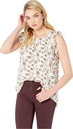 Wildflower Ruffle Tank Blouse