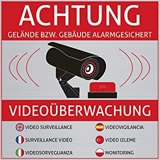 Selbstklebend Für Innen Und Außen Videoüberwachung Aufkleber