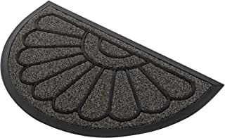 Door Mat, Outdoor Welcome Doormat by PILITO, Half Round Non-Slip Entrance Mat Rug for Patio, Entry, Home, Capture Dirt & E...