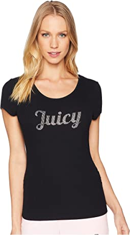 Juicy Lace-Up Back Tee