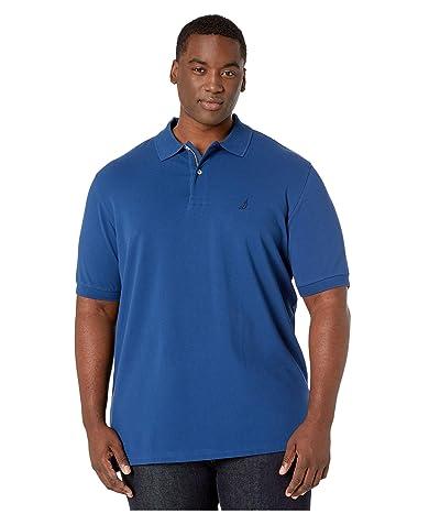 Nautica Big & Tall Big Tall Short Sleeve Solid Deck Shirt (Estate Blue) Men