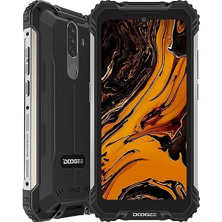 Smartphone, DOOGEE S58 Pro Android 10 Móvil Resistente 4G, Cámara Triples 16MP+Cámara Frontal 16MP, 6GB+64GB, Batería 5180mAh, 5.7 Pulgada IP68/IP69K Telefono Movil Antigolpes, NFC/GPS, Negro