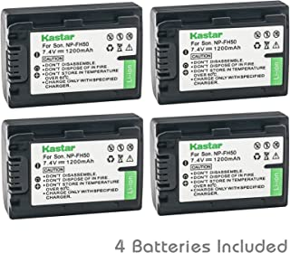 Kastar Battery (4-Pack) for Sony NP-FH50, NP-FH40, NP-FH30 & Sony DSLR-A230, DSLR-A330, DSLR-A290, DSLR-A380, DSLR-A390, HDR-TG1E, HDR-TG3, HDR-TG5, HDR-TG5V, HDR-TG7, DSC-HX1, DSC-HX200,DSC-HX100V