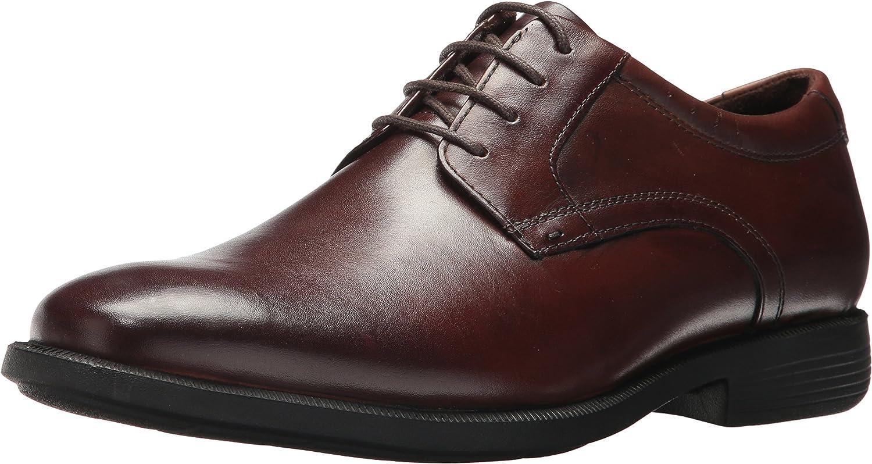 Nunn Bush Men Devine Plain Toe Oxford with KORE Comfort Walking Technology, Brown, 9
